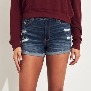 Hollister Short-Short High Rise Jean Shorts